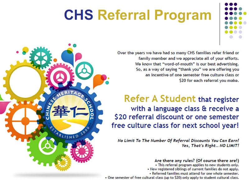 CHS Referral program